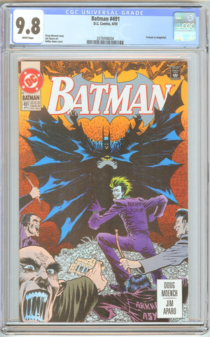 Batman # 491 CGC 9.8 White Pages (1993) 2078498004