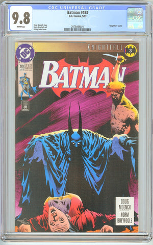 Batman # 493 CGC 9.8 White Pages (1993) 2078498021