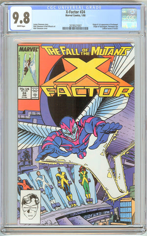 X-Factor #24 CGC 9.8 White Pages (1988) 2078527007 1st Archangel