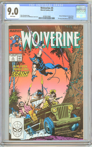 Wolverine #5 CGC 9.0 White Pages (1989) 2078527008