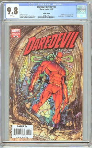 Daredevil #v2 #100 CGC 9.8 White Pages 2078527012 Michael Turner Variant