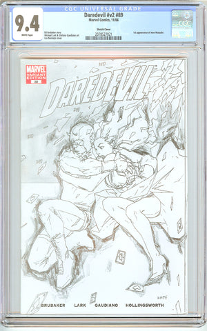 Daredevil #v2 #89 CGC 9.4 White Pages 2078527021 Sketch Cover