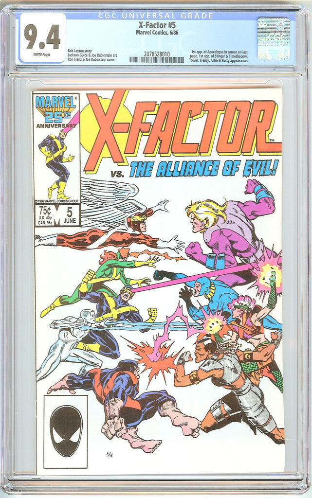 X-Factor #5 CGC 9.4 White Pages (1986) 2078528010