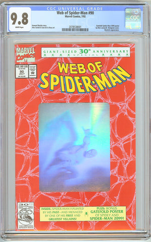 Web of Spider-Man #90 CGC 9.8 White Pages (1992) 2078538001