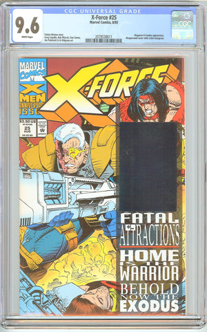 X-Force #25 CGC 9.6 White Pages (1993) 2078538011