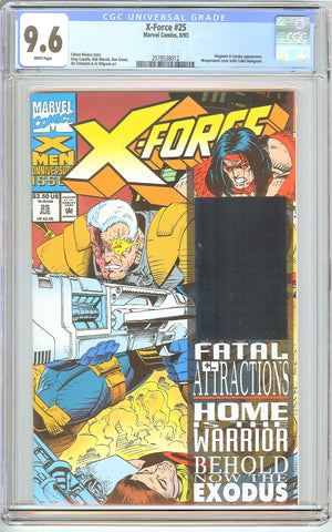 X-Force #25 CGC 9.6 White Pages (1993) 2078538012