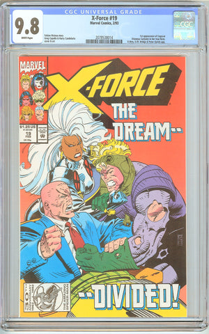 X-Force #19 CGC 9.8 White Pages (1993) 2078538014 1st Copycat