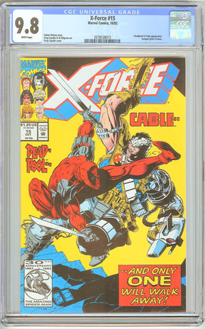 X-Force #15 CGC 9.8 White Pages (1992) 2078538015 Deadpool