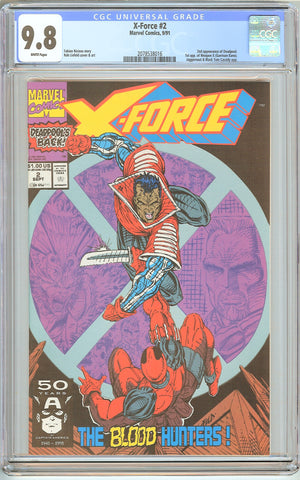 X-Force #2 CGC 9.8 White Pages (1991) 2078538016 Deadpool