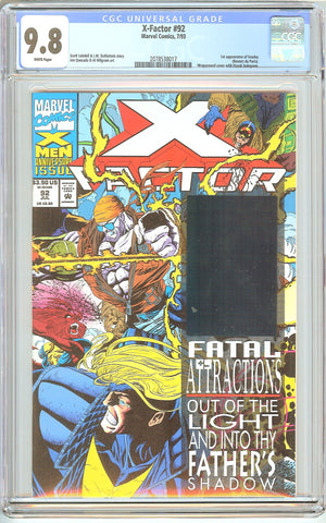X-Factor #92 CGC 9.8 White Pages (1993) 2078538017 1st Exodus