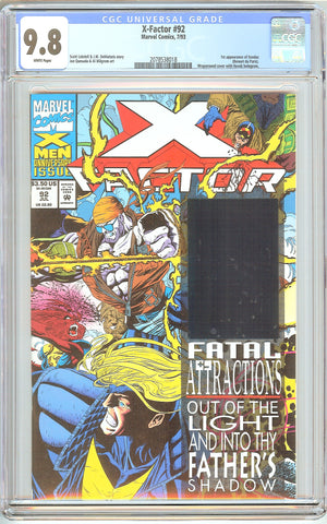 X-Factor #92 CGC 9.8 White Pages (1993) 2078538018 1st Exodus