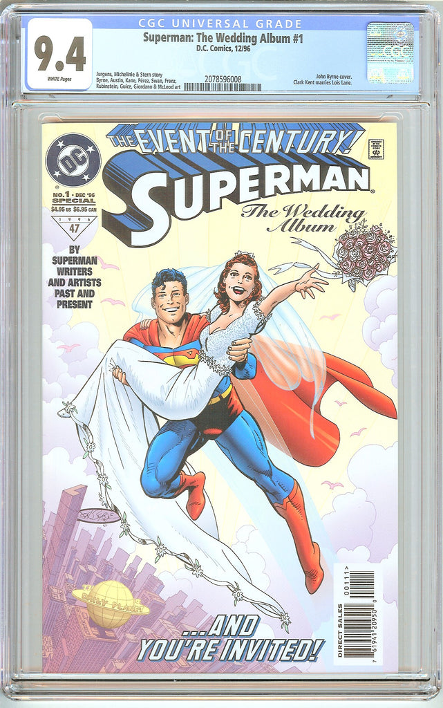 Superman The Wedding Album #1 CGC 9.4 White Pages (1996) 2078596008