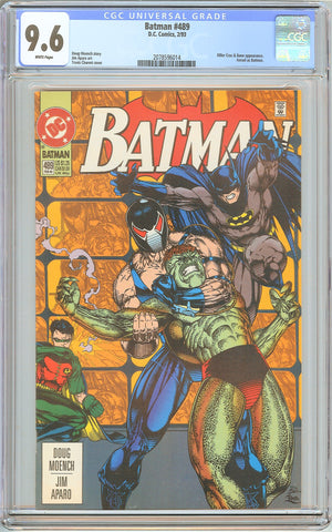Batman # 489 CGC 9.6 White Pages (1993) 2078596014