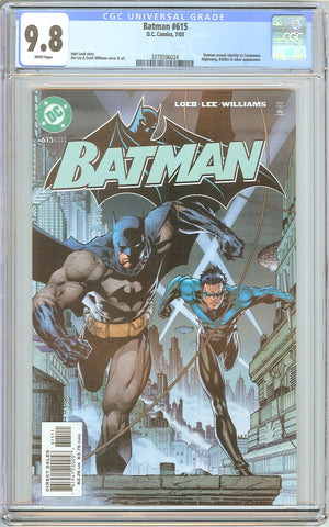 Batman # 615 CGC 9.8 White Pages (2003) 2078596024