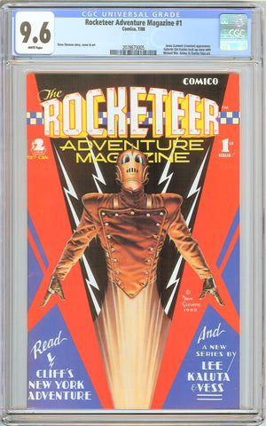 Rocketeer Adventure Magazine #1 CGC 9.6 White Pages (1988) 2078673005