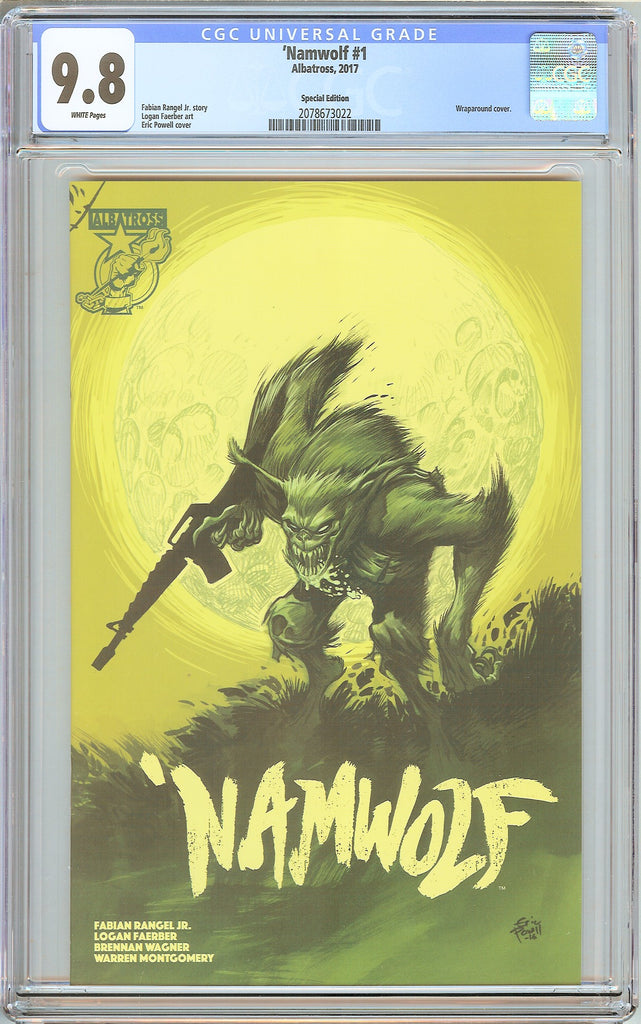 Namwolf #1 CGC 9.8 White Pages 2078673022 Wraparound Cover