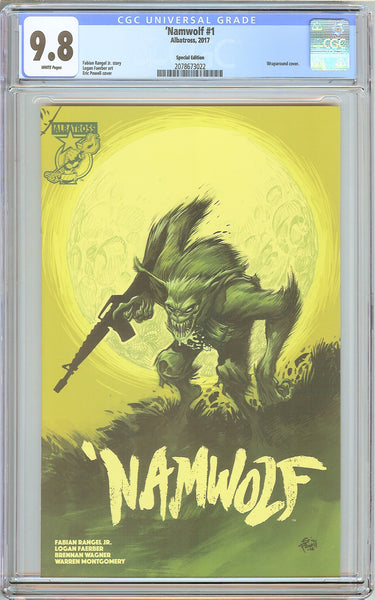 """Namwolf #1 CGC 9.8 White Pages 2078673022 Wraparound Cover"