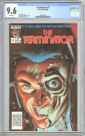 Terminator #1 CGC 9.6 White Pages (1988) 2078673024 Now Comics