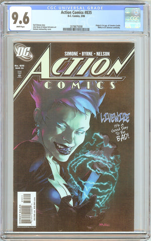 Action Comics #835 CGC 9.6 White Pages (2006) 2078675008 Livewire