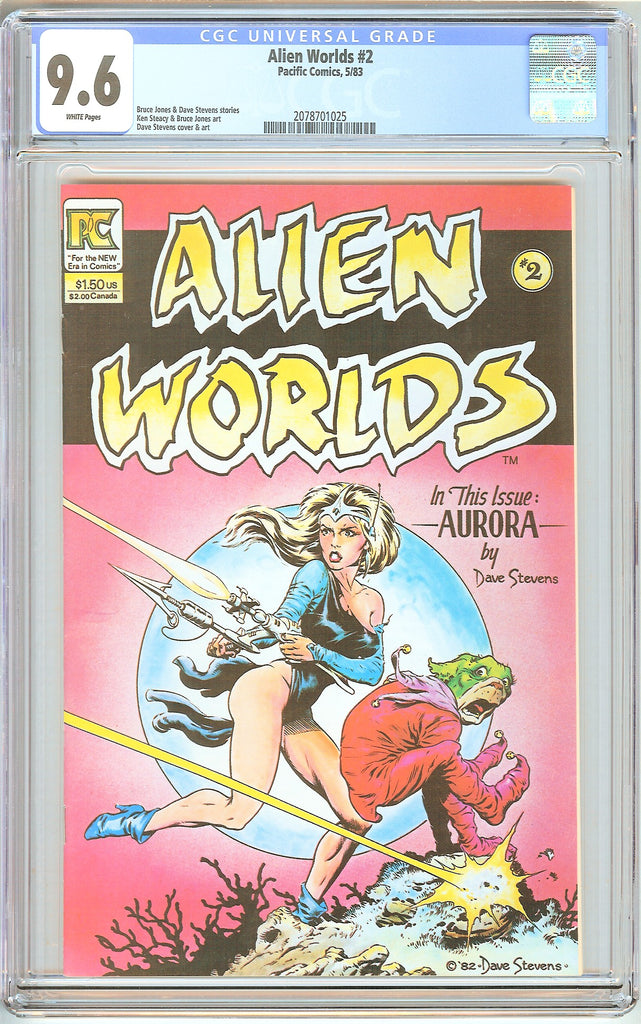 Alien Worlds #2 CGC 9.6 White Pages (1983) 2078701025 Dave Stevens Cover