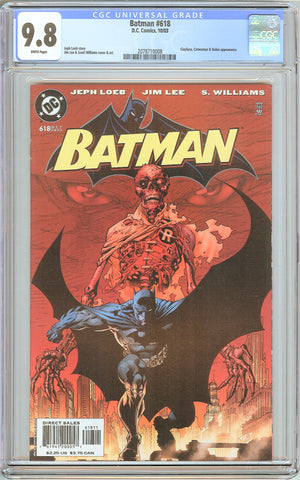 Batman # 618 CGC 9.8 White Pages (2003) 2078710008