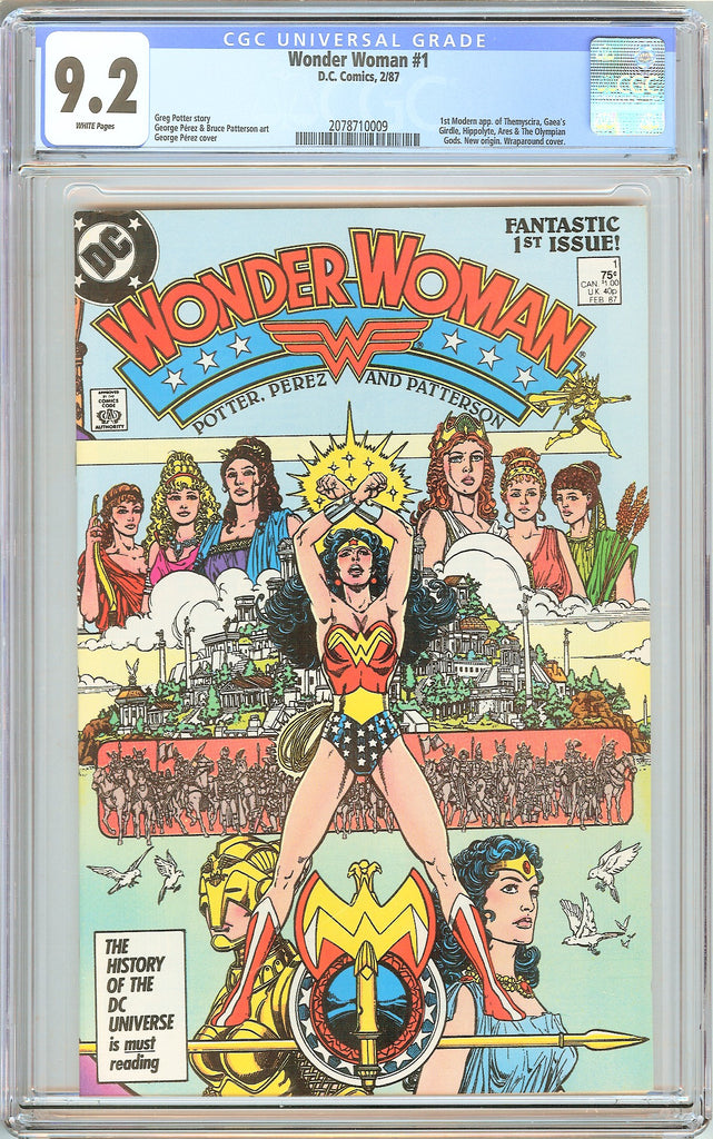 Wonder Woman #1 CGC 9.2 White Pages (1987) 2078710009