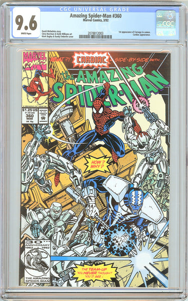 Amazing Spider-Man #360 CGC 9.6 White Pages (1992) 2078812003