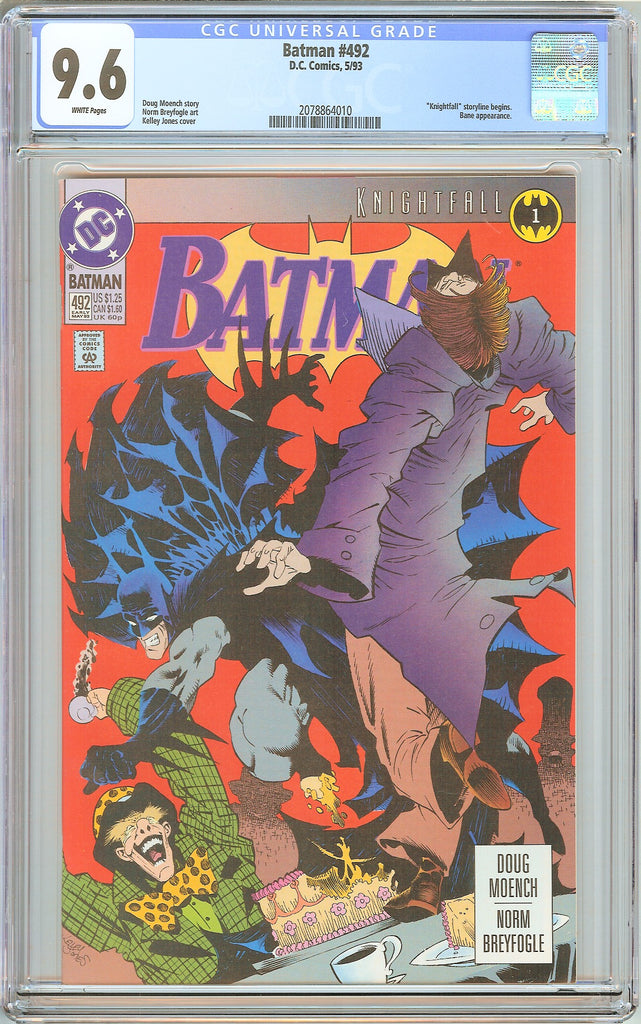 Batman # 492 CGC 9.6 White Pages (1993) 2078864010