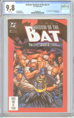 Batman: Shadow of the Bat #1 CGC 9.8 White Pages (1992) 2078864015