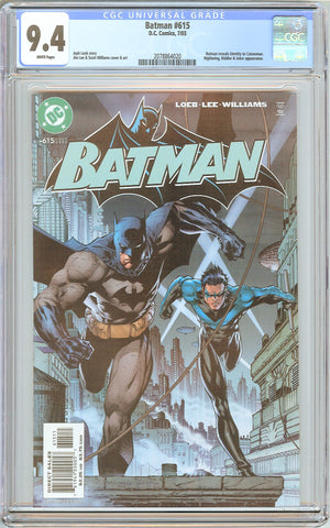 Batman # 615 CGC 9.4 White Pages (2003) 2078864020