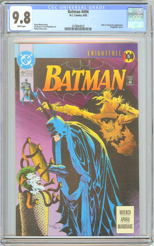 Batman # 494 CGC 9.8 White Pages (1993) 2078864025