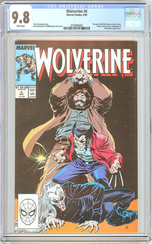 Wolverine #6 CGC 9.8 White Pages (1989) 2078996001 McFarlane Pin-up