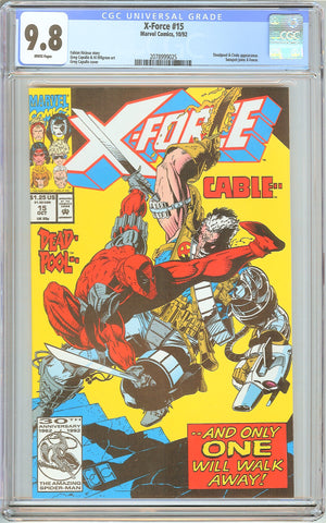 X-Force #15 CGC 9.8 White Pages (1992) 2078999025 Deadpool