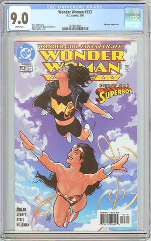 Wonder Woman #153 CGC 9.0 White Pages 2079019005 Adam Hughes cover
