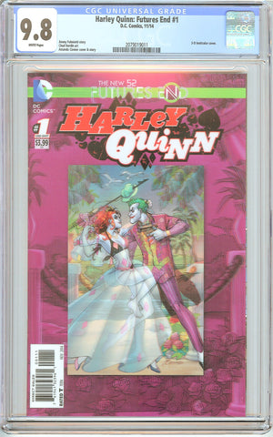 Harley Quinn: Futures End #1 CGC 9.8 White Pages (2014) 2079019011
