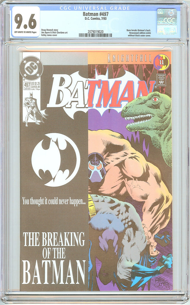 Batman # 497 CGC 9.6 White Pages (1993) 2079019020