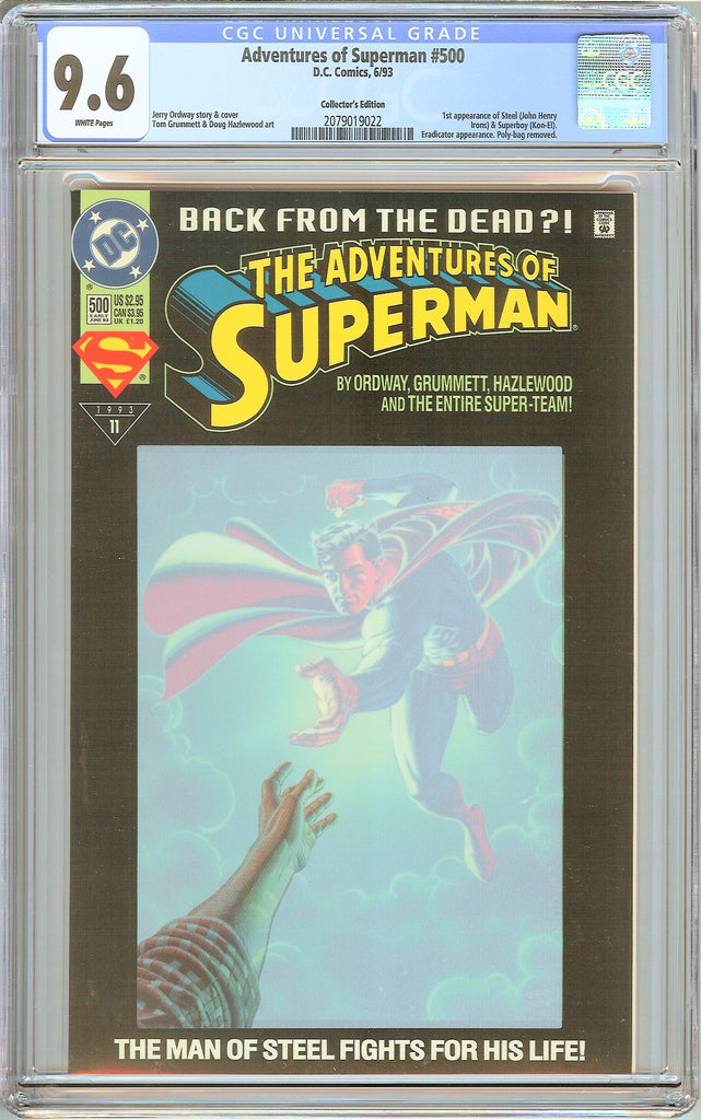 Adventures of Superman #500 CGC 9.6 White Pages 2079019022 Collectors Edition