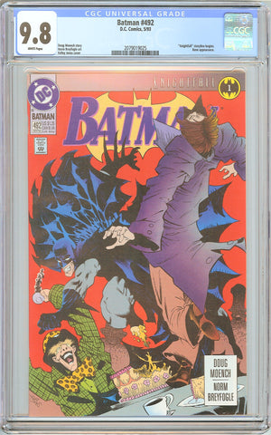 Batman # 492 CGC 9.8 White Pages (1993) 2079019025