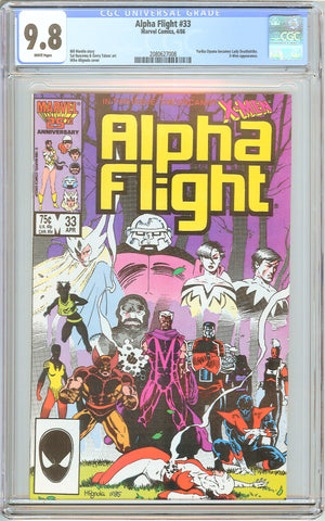 Alpha Flight #33 CGC 9.8 White Pages (1986) 2080627008 Lady Deathstrike