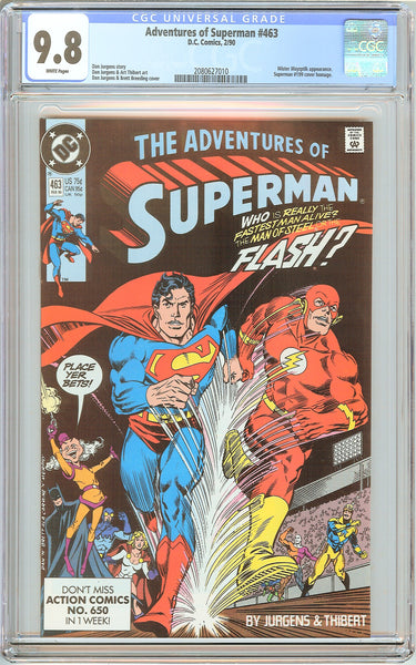 Adventures of Superman #463 CGC 9.8 White Pages 2080627010