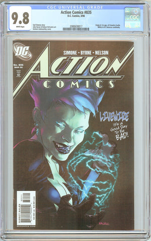 Action Comics #835 CGC 9.8 White Pages (2006) 2080630017 Livewire