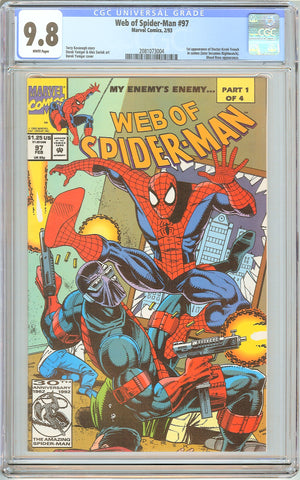Web of Spider-Man #97 CGC 9.8 White Pages (1993) 2081073004