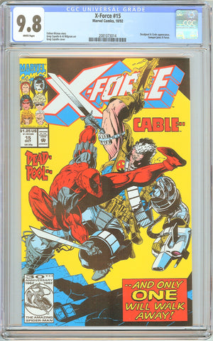 X-Force #15 CGC 9.8 White Pages (1992) 2081073014 Deadpool