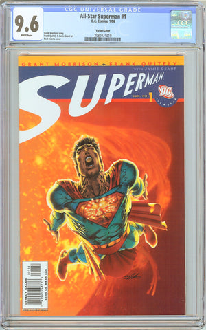 All-Star Superman #1 CGC 9.6 White Pages (2006) 2081074019 Variant Cover