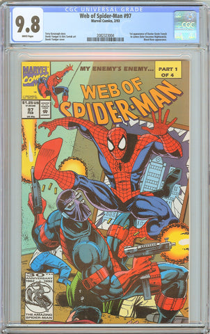 Web of Spider-Man #97 CGC 9.8 White Pages (1993) 2082323004