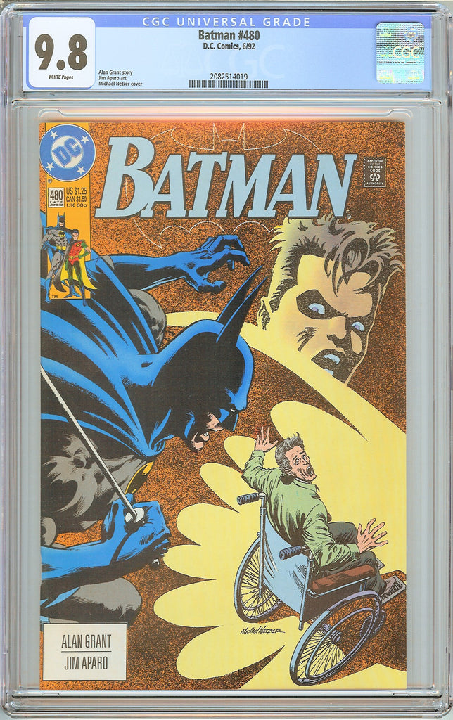 Batman # 480 CGC 9.8 White Pages (1992) 2082514019