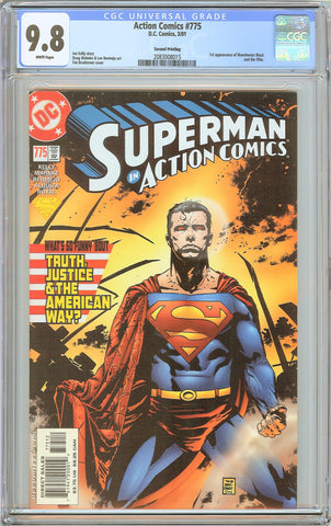 Action Comics #775 CGC 9.8 White Pages (2001) 2083008015 2nd Printing