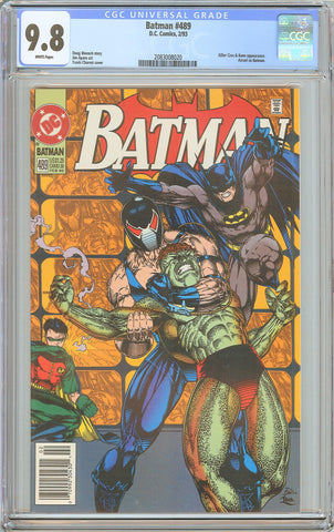 Batman # 489 CGC 9.8 White Pages (1993) 2083008020 Newstand