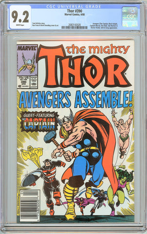 Thor #390 CGC 9.2 White Pages (1988) 2083142020