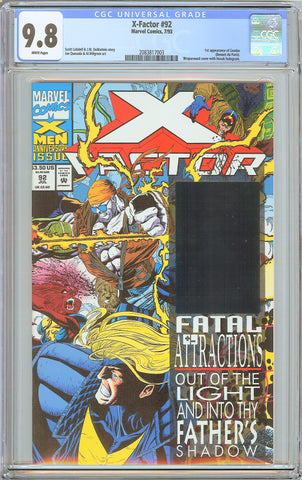 X-Factor #92 CGC 9.8 White Pages (1993) 2083817003 1st Exodus